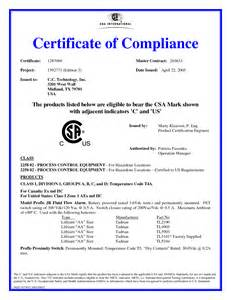 certificate of manufacture template electrical compliance certificate sle