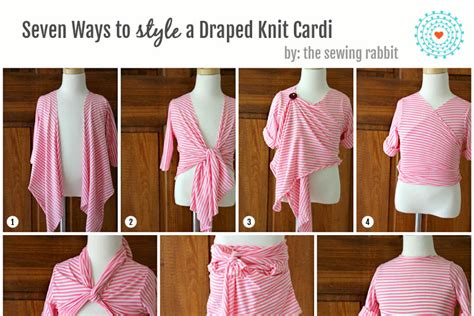 7 Ways To Wear The Heavy Petal Look Without Looking Overdressed by Draped Knit Cardi Diy Styled 7 Ways The Sewing Rabbit