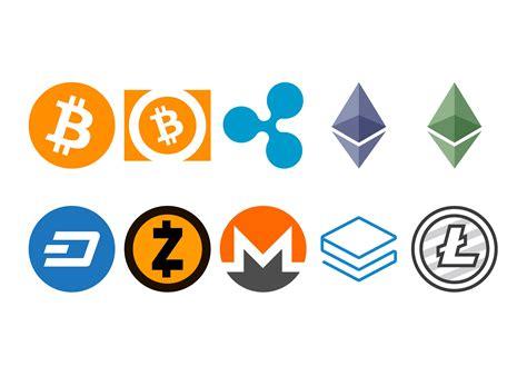 cryptocurrency logo icons creative market