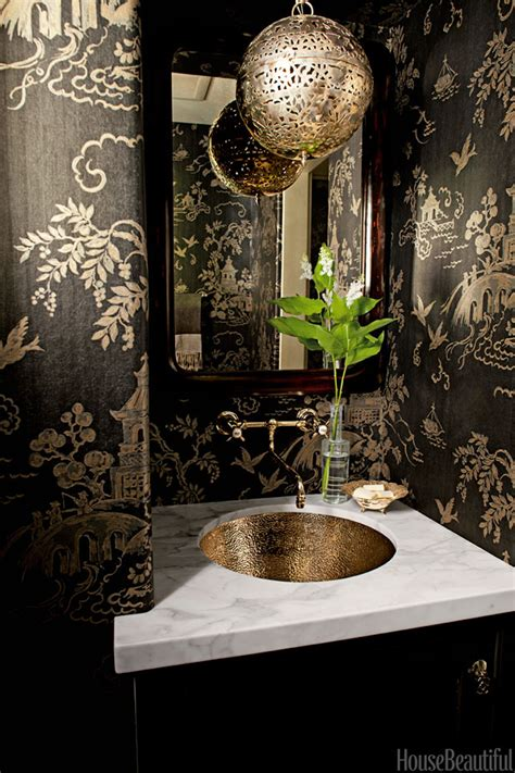 betsy burnham black and copper bathroom interiors by color