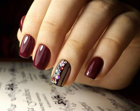 Beautiful Nail Ideas by Nail Designs With Rhinestones Glamorous And Chic
