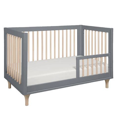 Crib Convertible Toddler Bed Babyletto Lolly 3 In 1 Convertible Crib With Toddler Bed Conversion In Grey Washed
