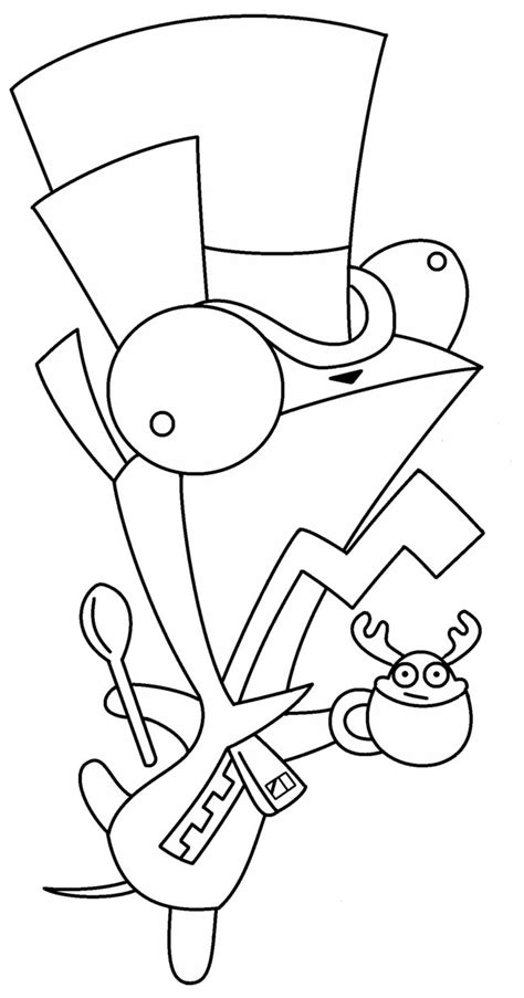 mad hatter gir coloring page by mewtube3000 on deviantart