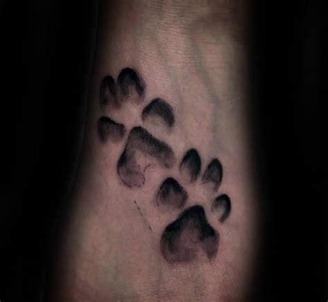 70 dog paw tattoo designs for men canine print ink ideas