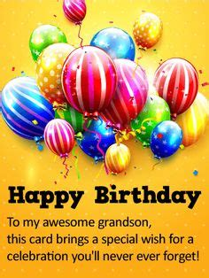 imagenes de happy birthday to my grandson to a wonderful grandson happy birthday card elaine