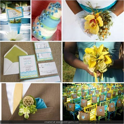 Inspirational Wedding Ideas #110: Turquoise Blue & Yellow