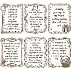 embossed textsheet with quot birthday quot verses in gold s652861gt free printable