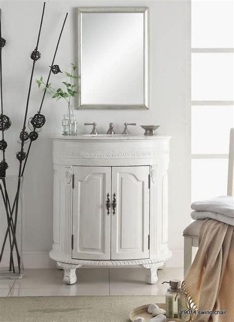 chans antique white 32 single sink bathroom