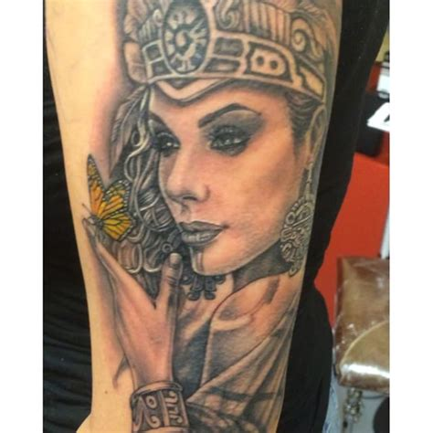 queen face tattoo 50 mind blowing aztec tattoos designs ideas stock