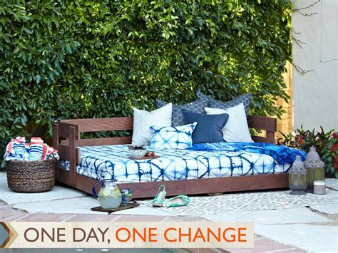 Diy Outdoor Daybed Build A Lounge Worthy Outdoor Daybed Hgtv