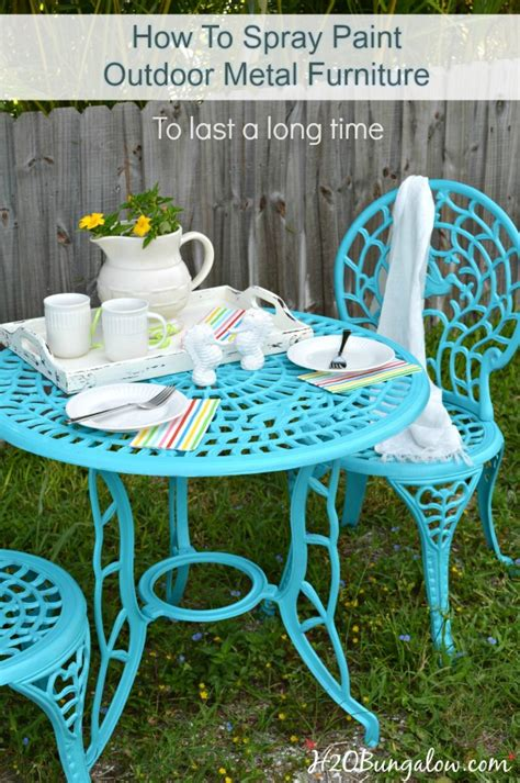how to spray paint metal outdoor furniture to last a time h20bungalow
