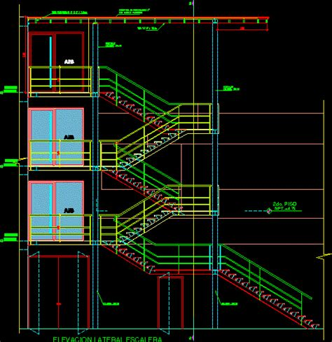 staircase section dwg file metal staircase details in autocad drawing bibliocad