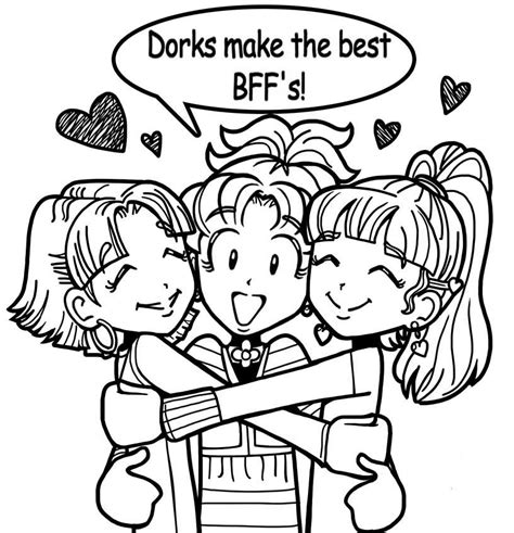 dork diaries 3 free colouring pages
