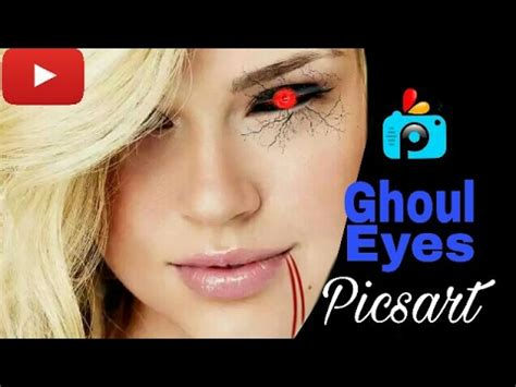 picsart eye tutorial picsart editing tutorial how to make tokyo ghoul eyes