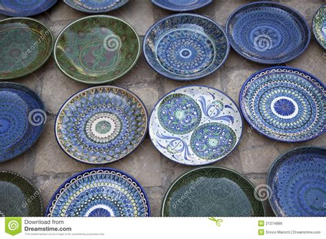 Handcrafted Plates - handmade ceramic plates stock image image of pattern