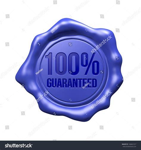 blue wax blue wax seal 100 guaranteed stock illustration 146661317