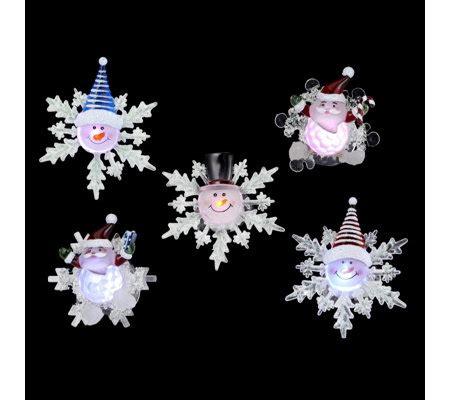 qvc window lights set of 6 colour changing led santa snowmen window lights