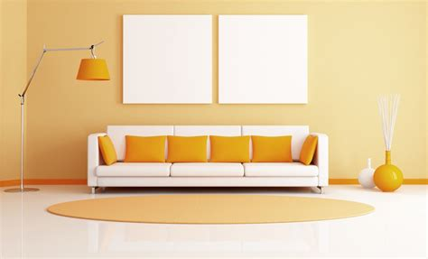 room wall perfect combination of yellow and white for the living room