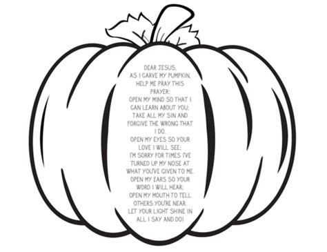 religious pumpkin coloring pages pumpkin prayer coloring page children s ministry deals