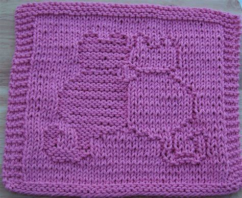 pattern for knitting a dishcloth free knit dishcloth patterns snuggling cats knit