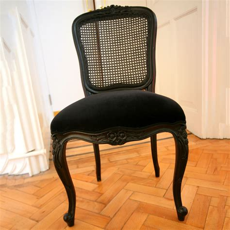 black velvet chair and a half black velvet and wicker chair ten and a half thousand things