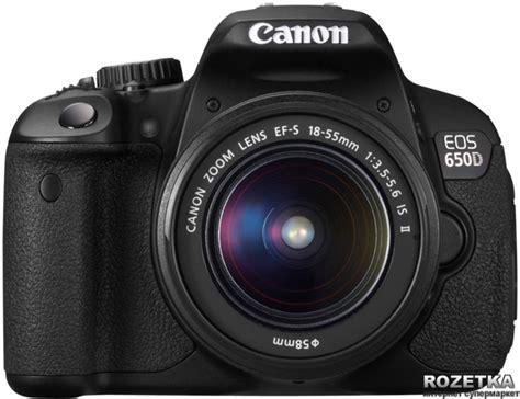 Canon Eos 650d Lensa Kit 18 55mm Is 18 Mp rozetka ua canon eos 650d 18 55mm is ii kit