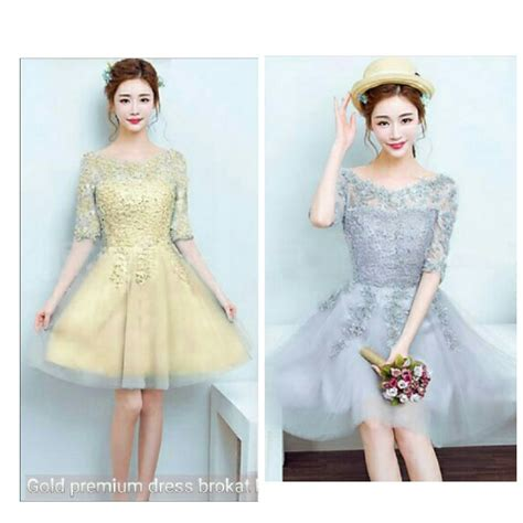 Mini Dress Gaun Silver Bandage Style L Import Original jual baru mini dress brokat gaun pesta natal baju pesta natal di lapak nur fashion nurfashionn