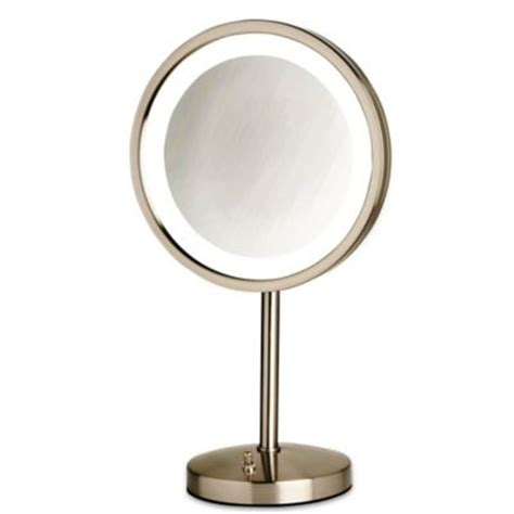 movable bathroom mirrors buy jerdon 174 1x 10x portable led tabletop mirror in white