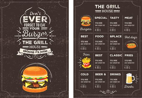 design your own menu template best and various templates