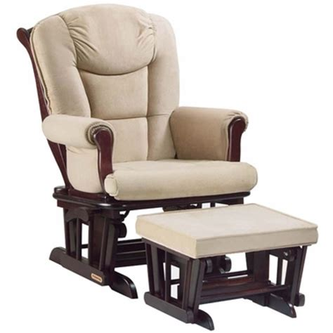 shermag glider and ottoman shermag glider and ottoman set in tea finish with pearl