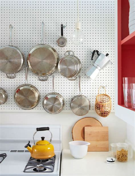 pegboard ideas kitchen 20 big ideas for small kitchens brit co