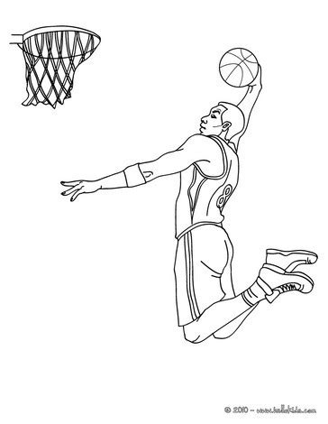 pro basketball coloring pages player dunking coloring pages hellokids com