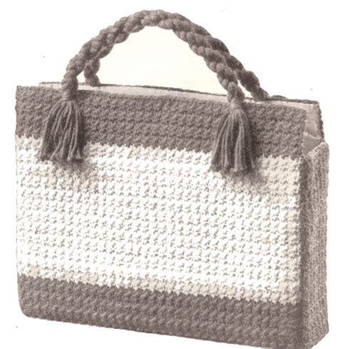 free pattern crochet laptop bag vintage crochet pattern to make shopping briefcase laptop
