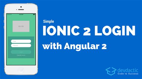 Ionic Pages Tutorial | simple ionic login with angular 2 devdactic