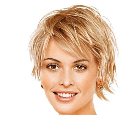 Short hairstyles for thin hair and high forehead