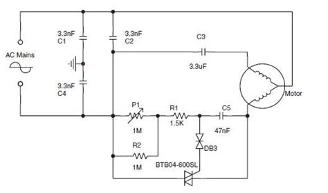 ac induction motor circuit speed circuit for a small asynchronous induction ac motor