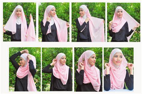 gambar tutorial hijab paris syar i cara memakai jilbab syar i cantik cara memakai jilbab