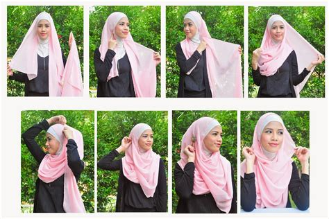 tutorial memakai turban dari pashmina cara memakai jilbab syar i cantik cara memakai jilbab