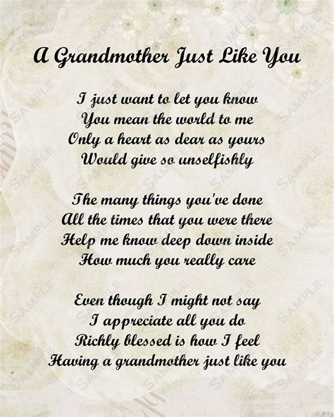 Grandmother Poem on Pinterest   Grandmother Quotes