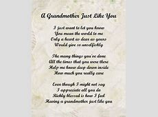 Grandmother Poem on Pinterest | Grandmother Quotes ... I Love You Grandma Quotes