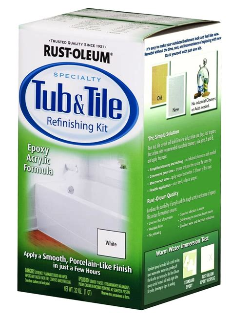 spray bathtub refinishing kit buy the rust oleum 7860 tub tile refinishing kit white