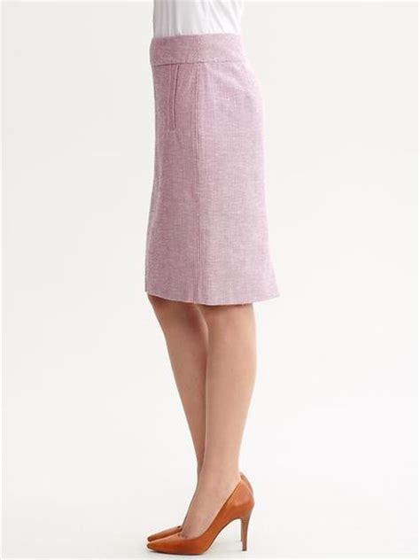 banana republic pastel tweed pencil skirt in pink mayet