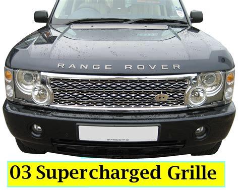 chrome range rover chrome supercharged grille conversion kit for range rover