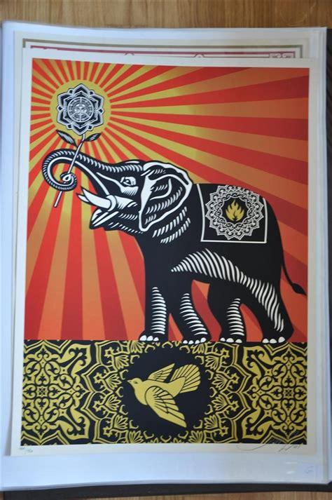 shepard fairey peace goddess print obey shepard fairey peace elephant prints for sale