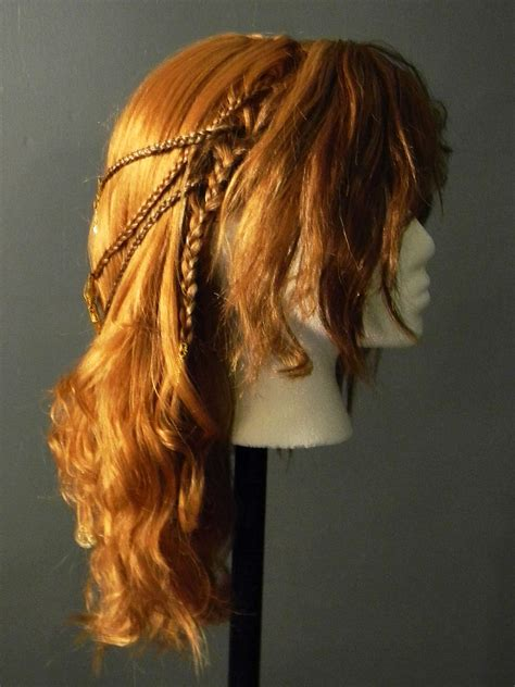 celtic warrior hair braids viking shieldmaiden celtic braided costume wig 2 by