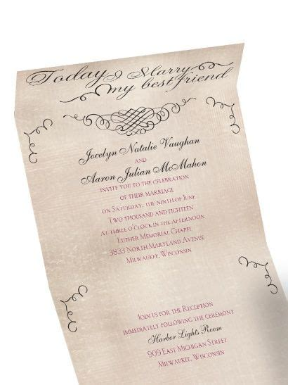 """Best of Friends"" Seal and Send Wedding Invitation The top"