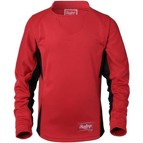 M Baseball Fleece rawlings mens sleeve dugout fleece pullover ebay