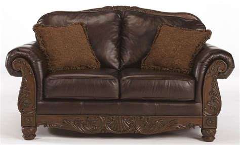 shore brown loveseat 2260335 leather seats