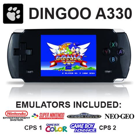 best console emulator dingoo a330 nes snes gameboy advance gba sega mega