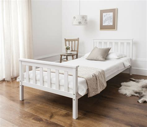 White Bed by Single Bed In White 3ft Single Bed Wooden Frame White Ebay